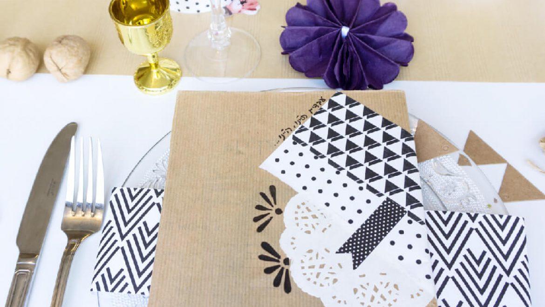 5 רעיונות לעיצוב שולחן חגיגי DIY